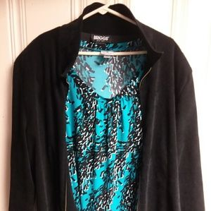 Jacket with blouse